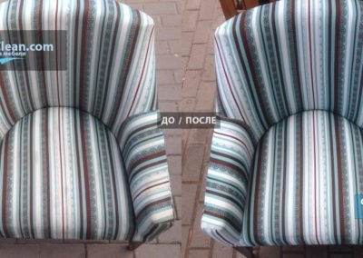 Чистка синтетического кресла из полиэстера